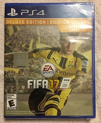 FIFA 17: Deluxe Edition (Sony PlayStation 4, 2016) BRAND NEW SEALED BOX PS4