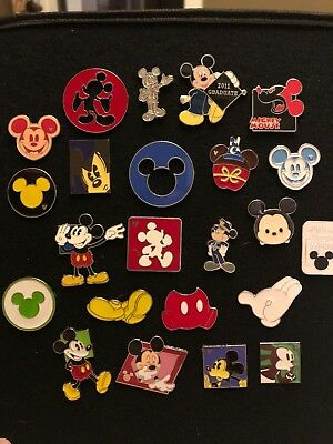 Pin Trading Disney Pins Lot of 23 As Pictured Mickey Mouse
