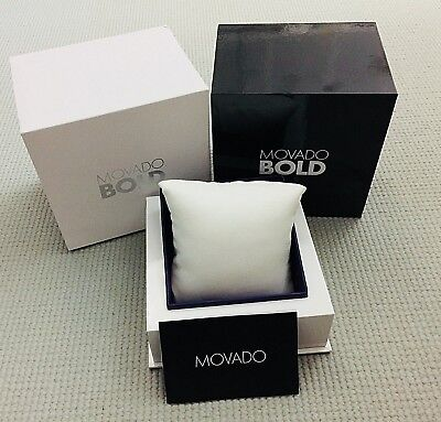 NEW Authentic MOVADO BOLD WATCH Package Display Collector Box & Manual