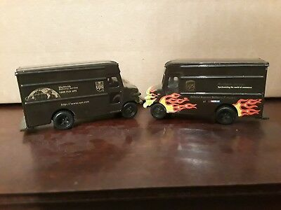 Lot of Two UPS (United Parcel Service) Die Cast Trucks--Very Nice!
