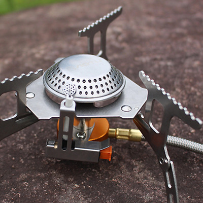 3500W Portable Outdoor Picnic Gas Burner Foldable Camping Steel Stove Adaptor