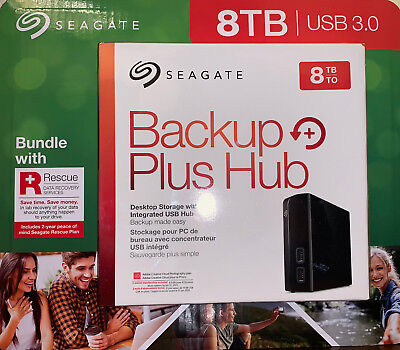 Seagate Backup Plus Hub 8TB External HDD USB 3.0 Desktop Hard Drive