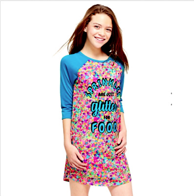 9d04b020e2 JUSTICE GIRLS SIZE 12 Scented Sprinkles Nightgown New With Tags ...