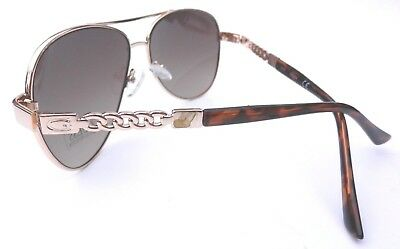 NEW GUESS GF0321 gold aviator sunglasses