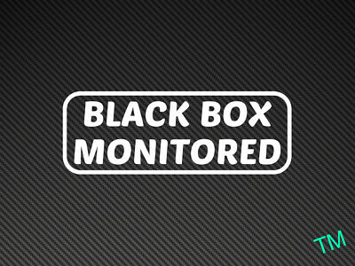 """/""""BLACK BOX MONITORED/"""" Style 3 Funny New Driver Car Sticker Vinyl Decal"""
