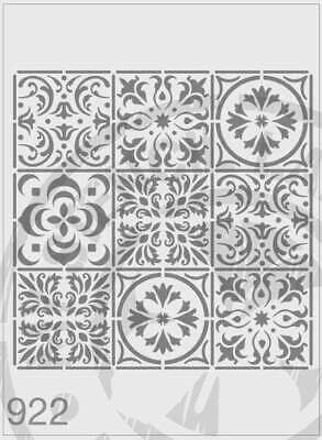 Stencil 922 Mixed Tile Repeat Pattern Stencil