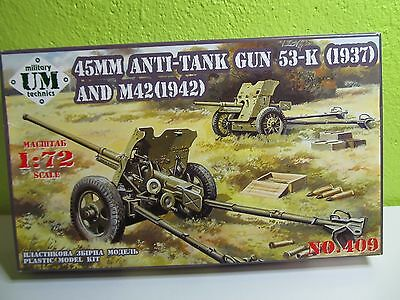 122P - UM Military Technics 409 - 45mm antitank gun 53-K(1937) / M-42(1942) neu