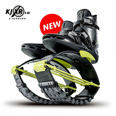 Orginal Kangoo Jumps KJ XR3 Springschuhe Black/Yellow Größe L (42-44,5)