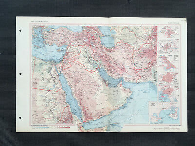 Map Of Saudi Arabia South West Asia 1967 Large