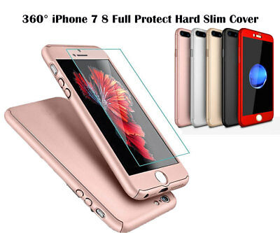 Full Body Protective 360° iPhone 7 8 Shockproof Case Hard Ultra Slim Cover