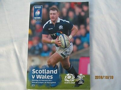 Scotland v Wales. Rugby Union. Programme + Event Tickets 2017.