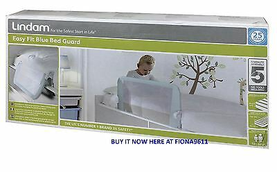 Lindam Easy Fit Child Safety Bed Guard Rail Blue - Brand New & Sealed