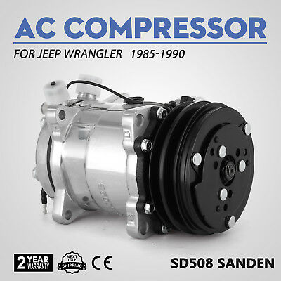 Top A//C AC Compressor and Clutch Replaces Sanden SD508 ABPN83304052 Cool