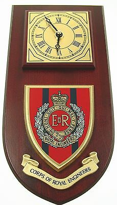 Corps Of Royal Engineers Classic Hand Made To Order Wall Clock