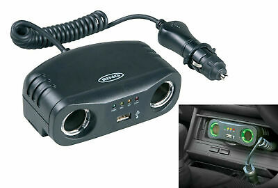 Ring Car 12v Twin Cigarette Lighter Adapter Socket With USB + Battery Analyzer