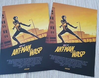 2 x Ant-Man and The Wasp A4 Card Art Print posters [The Wasp] *Odeon*