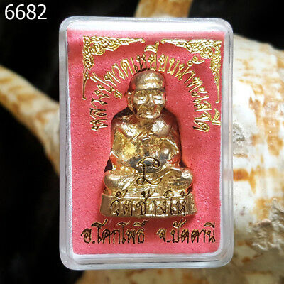Bronze Lp tuad statue  thai amulet of Paguykaew Temple  #6682g