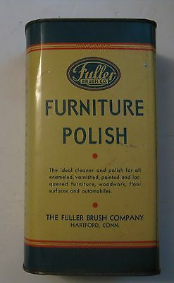 RARE VINTAGE 1939 FULLER BRUSH Co GAS / OIL Co. ADVERTISING FURNITURE POLISH CAN