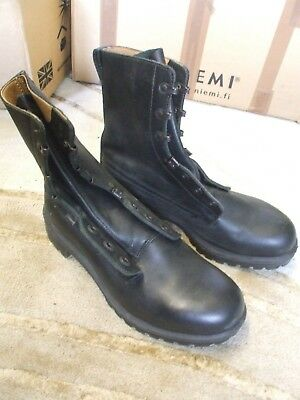 Genuine British Army S8 Black Leather Combat / Assault Boots - New 10M