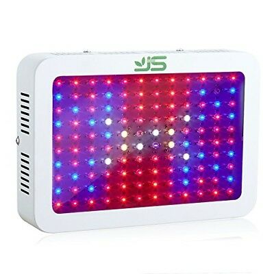 JS 1200W LED Grow Light Full Spectrum,Dual Chips Plant Lamp with UVIR Red Blue
