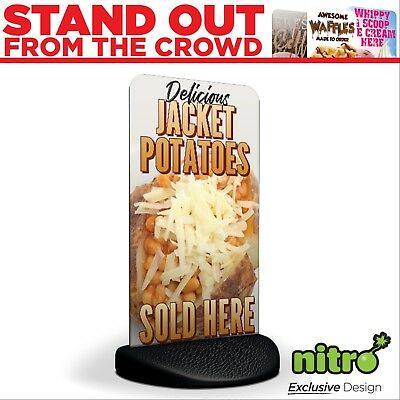Jacket Potatoes Baked Sold Here Eco Flex 2 Pavement Sign **PRINTED & DELIVERED**