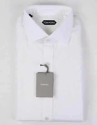 d29b310a6c31 New $630 Tom Ford Solid White Dress Shirt Slim Fit Model Size 17.75 45 NWT