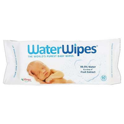 WaterWipes Baby Wipes Sensitive Skin, (60 wipes) pack of 2,3,4,5,6