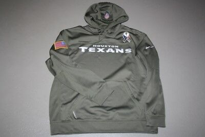quality design 2fc83 aee1b NIKE HOODIE NFL Houston Texans XL Therma-Fit Kapuze Salute to Service
