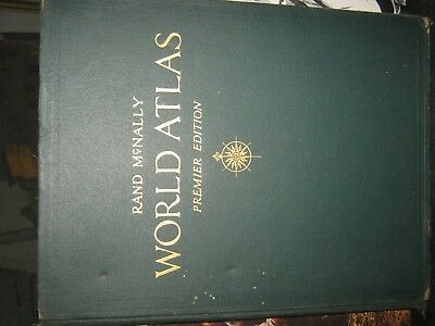 RARE Vintage/Antique Rand McNally World Atlas Premier Edition