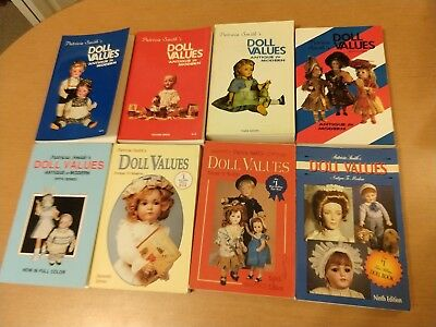 Doll Values Patricia Smith Antique to Modern Lot of 8 Books 1st - 5th, 7th -9th