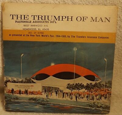 New York World's Fair THE TRIUMPH OF MAN 33rpm Record in Folder-Sleeve 1964-1965