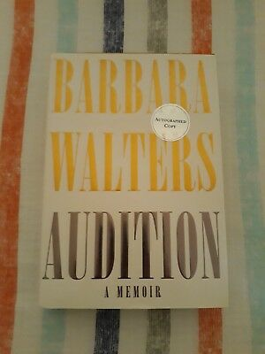 BARBARA WALTERS Signed Autograph Book Audition FULL SIGNATURE The View 20/20 NBC