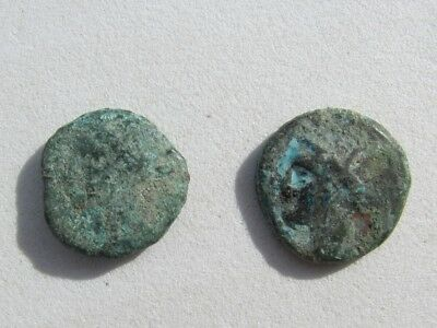 Wonderful RARE Lot of ( 2) Greek coins  of CARTHAGE 3rd cent. B.C.