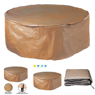"""Round Patio Table Garden Outdoor Furniture Waterproof Chair Set Winter Cover 60"""""""