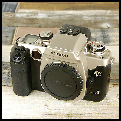 Clean Canon EOS 50E Eye control RETRO AF 35mm Film Camera