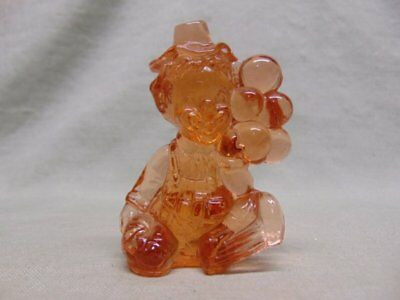 "Vintage Mosser Glass ""Iffy"" Clown Figurine Salmon/Peach Color"