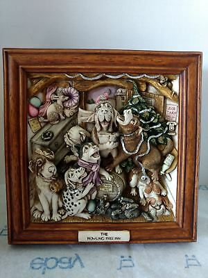 Harmony Kingdom - Picturesque - The Howling Inn - Singing Dog  3D Wall Plaque