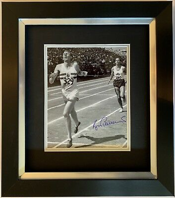Roger Bannister Hand Signed Framed Photo Display 4 Minute Mile Olympics 2.