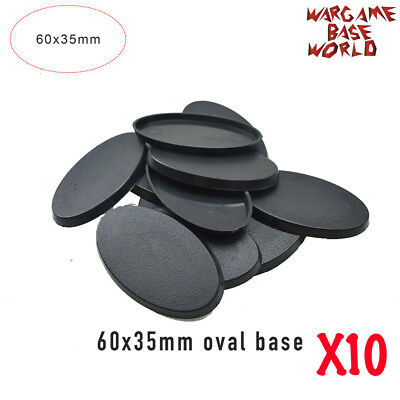 10 Pcs 60x35mm Oval bases - Wargame Plastic Base Model  For Gamaing Miniatures