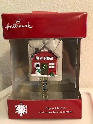 Hallmark Christmas Tree Ornament 2018 New Home Key Shape