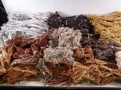 1 Pair Rawhide Leather Shoe Laces Boots Brown Black White Yellow Orange Ivory