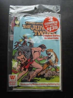 SEALED 1980's WHITMAN 3 PACK - TRAGG 9, JUNGLE TWINS 18 & BROTHERS OF SPEAR 18