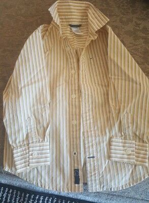 Gymboree Colloared Button Up Boys Toddler Dress Shirt Yellow Stripes Size 4