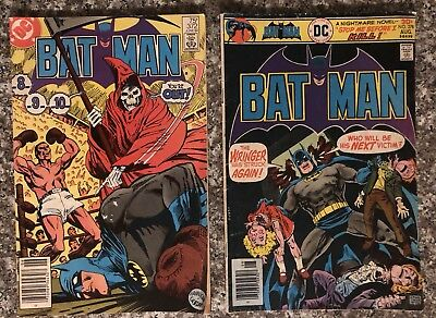 DC COMICS Batman No. 372 1984 BATMAN No. 278 1976 Vintage COMIC BOOKS