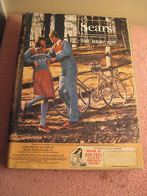 Vintage 1976 Sears Roebuck Fall Winter Catalog Old Wish Book Fashions TV Tools