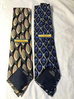 """Cocktail Collection By Stonehenge Lot of 2 Wine and Beer 100% Silk Neck Tie 3.5"""""""