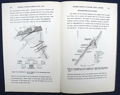 USGS COLORADO BOULDER Co TUNGSTEN DEPOSITS Vintage 1940 Report with ALL MAPS!