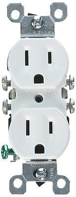 Leviton 12650-W 15a 125v Duplex Wall Receptacles, White, Residential (10 Pack)
