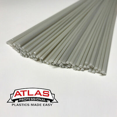 ABS Plastic Welding Repair Rods-20ft, 20pk-Natural-12in x 3mm