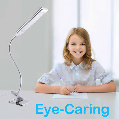 48 LED Silver Flexible USB Clip-on Bed Table Desk Lamp Metal Reading Light 5W